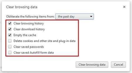 Memilih Perkara Yang Hendak Di Padam Dalam Chrome