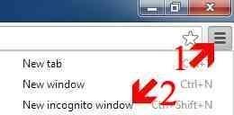 Mulakan Incognito Browsing dalam Chrome