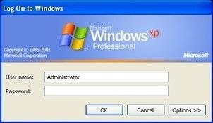 Skrin Log In Windows XP