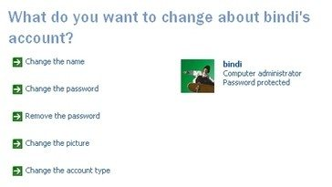 User Accounts Windows XP