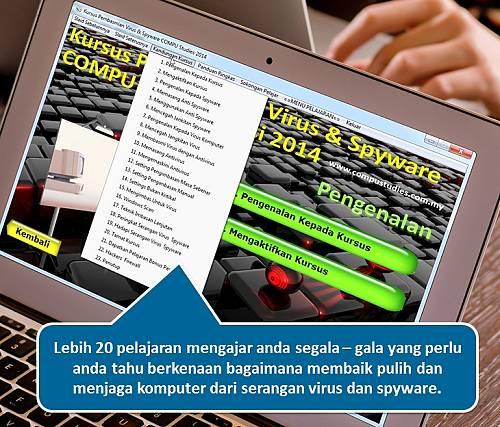 kandungan pelajaran kursus basmi virus spyware