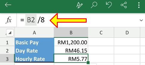 excel salary hourly rate