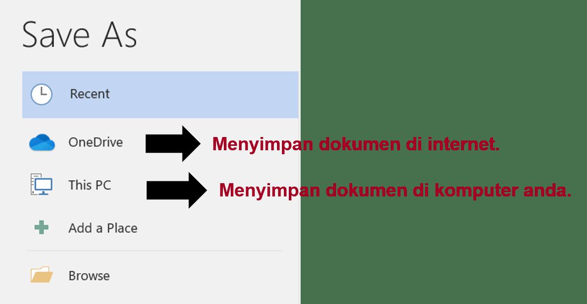 microsoft word save menu