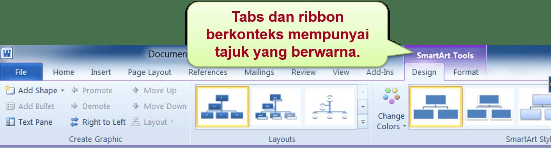 microsoft word contextual ribbon